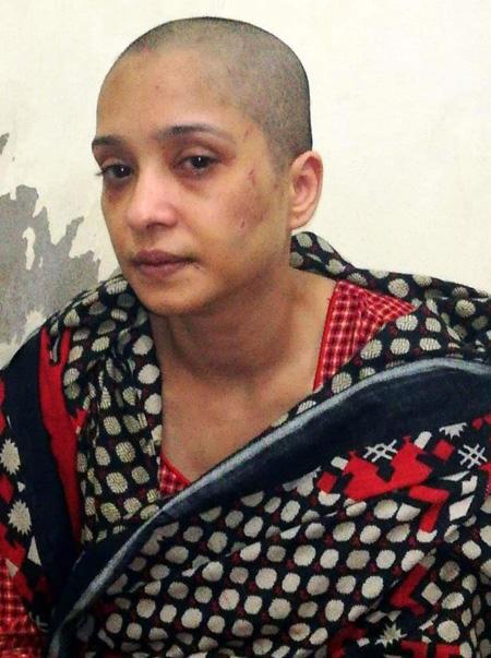Aziz hiện đã bỏ trốn khỏi nhà chồng và cầu xin sự giúp đỡ của nhà chức trách. Ảnh: Twitter.
