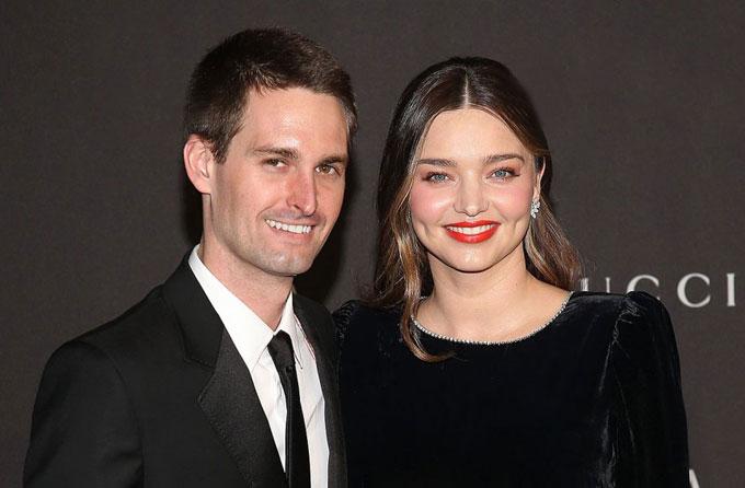 Miranda và Evan Spiegel.