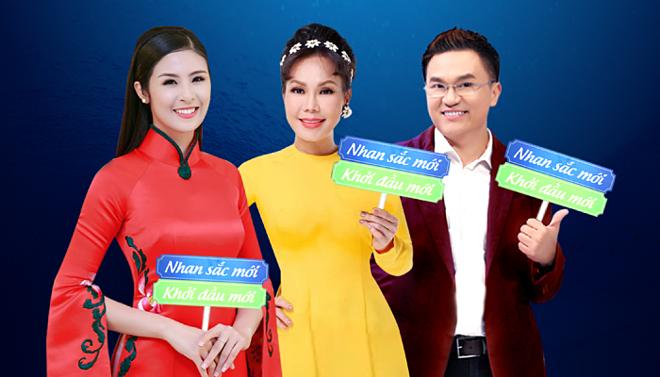 Hoa hậu Ngọc Hân, Việt Hương, MC Đại Nghĩa hội ngộ tại chương trình Nhan sắc mới - Khởi đầu mới mùa 2 vào ngày 13/4.