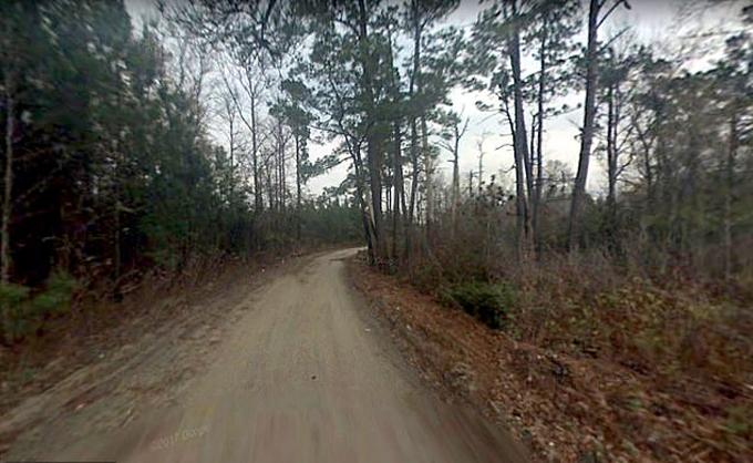 Đoạn đường ở quận Claredon, bang Nam Carolina, nơi nữ sinh Samantha bị sát hại hôm 30/3. Ảnh: Google Map.
