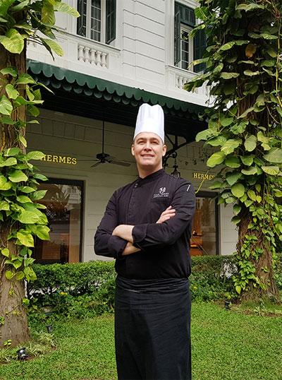 Bếp trưởng Paul Smart có kinh nghiệm chế biến món ăn cho nhiều chính khách, người nổi tiếng.