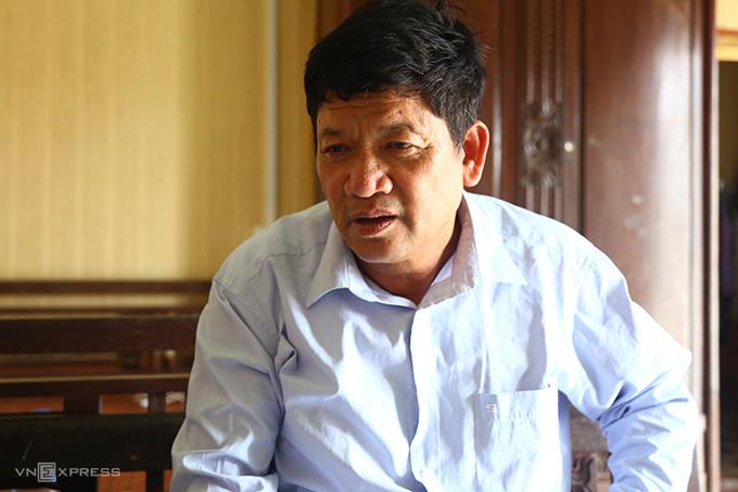 Ông Đoàn Văn Thạnh tại nhà riêng ở Nam Định sáng 3/4. Ảnh:Phạm Dự.