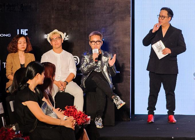 Chung Thanh Phong trả lời báo chí về vai trò mở màn cho Tuần lễ Thời trang Quốc tế Việt Nam 2019.
