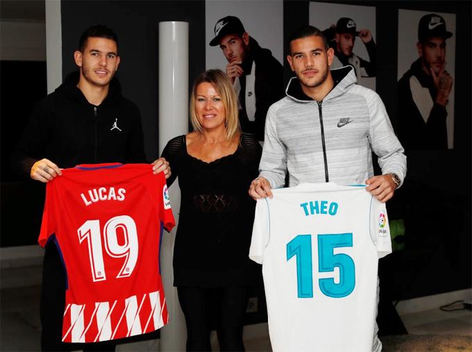 Lucas và em trai, Theo, từng nhiều lần đối đầu khi Atletico chạm trán Real tại La Liga.