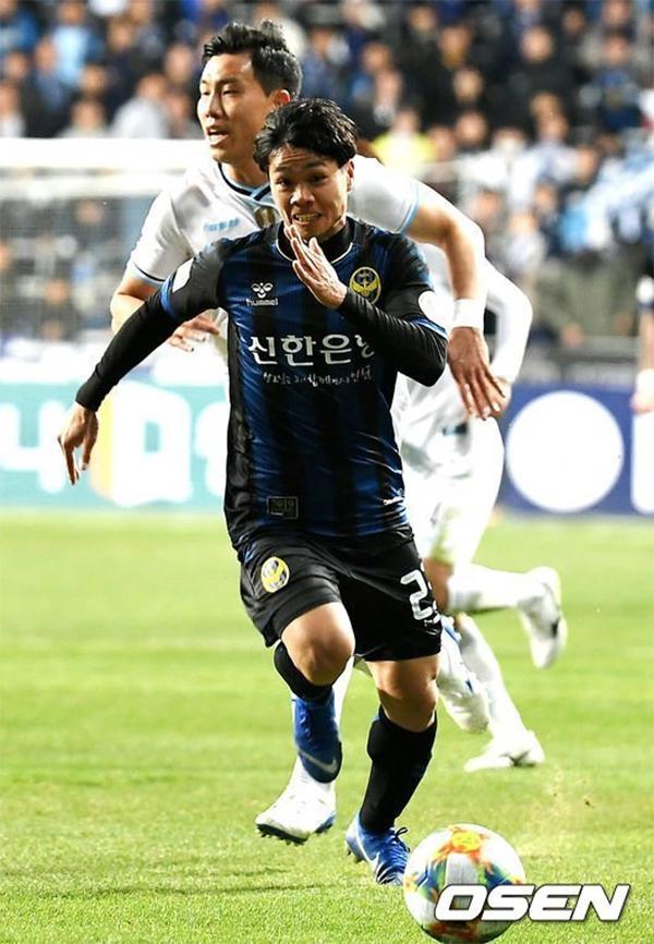 Công Phượng là một trong những cầu thủ chơi tốt nhất của Incheon United trong trận gặp Daegu. Ảnh: Osen.