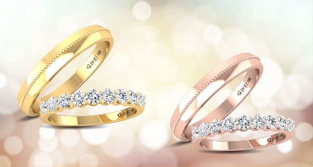 Thương hiệu thường lựa chọn kim cương - một loại chất liệu quý giá, tượng trưng cho sự gắn kết bền vững và trọn vẹn, làm chất liệu chủ đạo trong các thiết kế. Với điều này, mỗi chiếc nhẫn đính hôn hay cặp nhẫn cưới không chỉ tinh tế, sang trọng mà còn mang giá trị biểu tượng cao. Nhẫn thường được sử dụng chất liệu bạch kim, vàng vàng, vàng trắng, vàng hồng... đai nhẫn có gắn một hoặc kết nhiều viên kim cương.