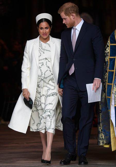 Meghan và chồng khi tham dự một sự kiện vào tháng trước. Ảnh: Rex.