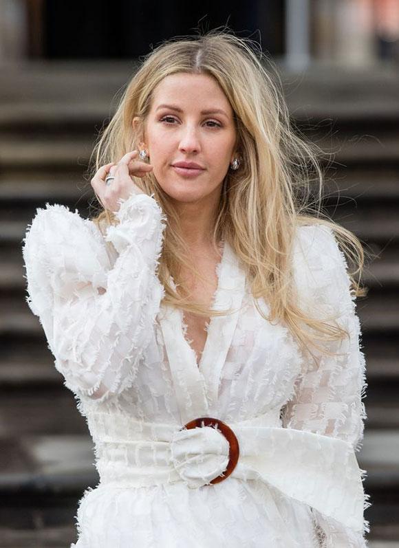 Ngôi sao nhạc pop Ellie Goulding, bạn gái cũ của Hoàng tử Harry, tại sự kiện hôm 4/4. Ảnh: WireImage.