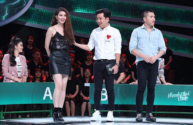 Diễn viên Kha Ly và ca sĩ Quốc Thiên là khách mời trong gameshow thử thách kiến thức tổng hợp của các nghệ sĩ. Trường Giang cầm trịch chương trình này.