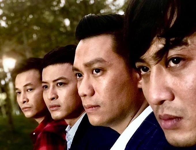 Các nam diễn viên của Mê cung: Anh Đức, Hồng Đăng, Việt Anh, Doãn Quốc Đam (từ trái sang).