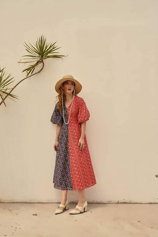 Váy hoa với nhiều kiểu dáng và họa tiết, sắc màu được Yến Nhi giới thiệu ở đầu mùa nắng.