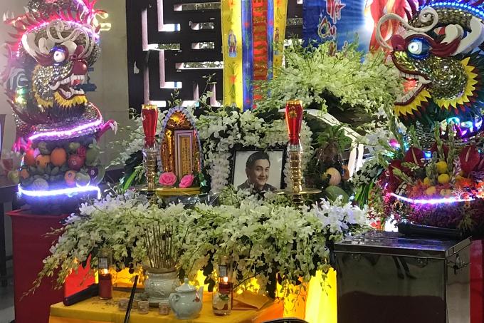 Linh cữu Anh Vũ được đặt tại chùa Ấn Quang, TP HCM.