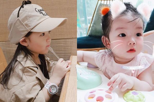 Hai chị em Ha Eun (trái) và So Eun (phải).
