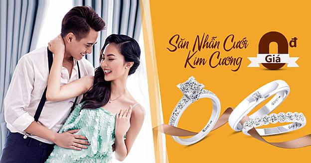 Chương trình Săn nhẫn cưới kim cương giá 0 đồng mở ra cơ hội sở hữu nhẫn kim cương cho các cặp đôi.