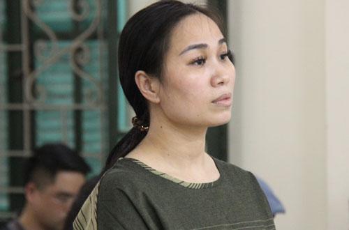 Bị cáo Vân tại phiên sơ thẩm hôm nay (10/4).