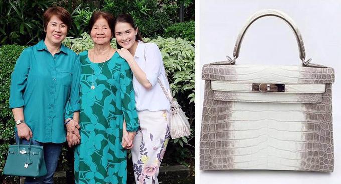 Ngày 19/6/2016, mỹ nhân đẹp nhất Philippines Marian Rivera gây xôn xao truyền thông nước nhà khi xuất hiện với thiết kế Kelly da cá sấu bạch tạng.