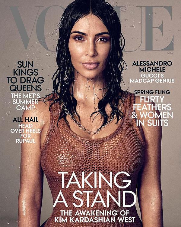 Kim hạnh phúc tột độ khi được lên bìa Vogue số tháng 5.