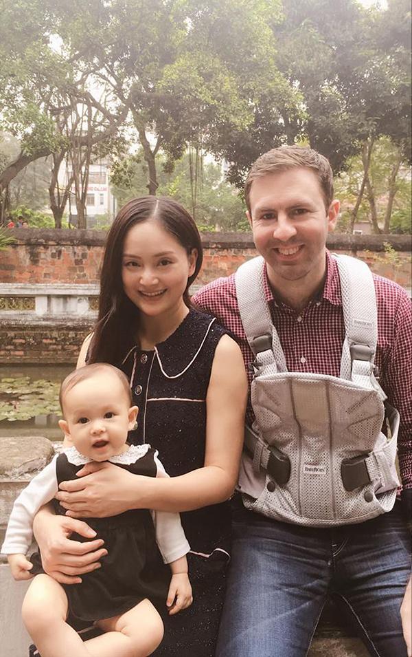 Gia đình nhỏ của Lan Phương.