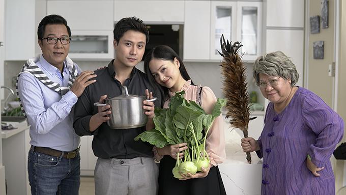 Lan Phương đóng cặp với Thanh Sơn trong Nàng dâu order.