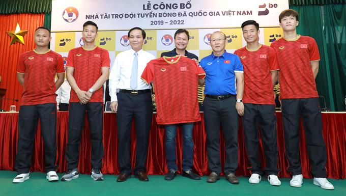 Thầy trò HLV Park Hang-seo có thêm nhà tài trợ mới.