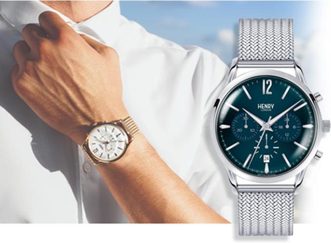 Đồng hồ nam Henry London từthương hiệu Anh Quốc được lấy cảm hứng từchiếc đồng hồ cổ trên con đường Portobello nổi tiếng.