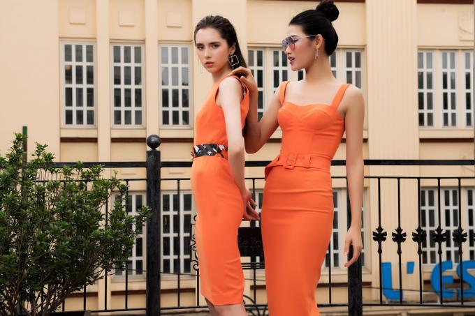 Hai nhà thiết kế chọn chất liệu ôm, co giãn n hẹtạo nên những bộ đầm giúp khoe hình thể.
