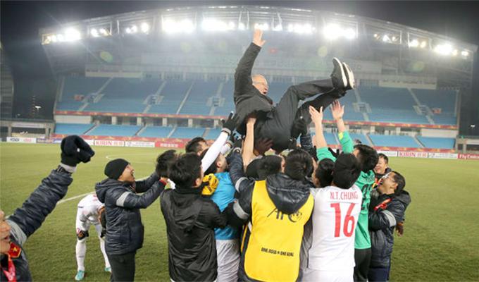 HLV Park khởi đầu chuỗi thành công cùng bóng đá Việt Nam bằng việc vào tới trận chung kết U23 châu Á 2018.