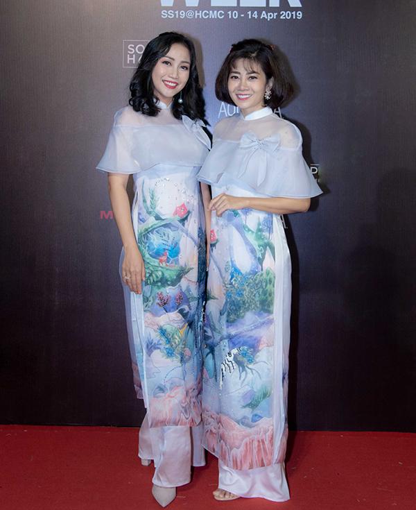 Mai Phương, Ốc Thanh Vân mặc áo dài đôi đi sự kiện - 1