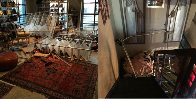 Người bạn chia sẻ bức ảnh Johnny Depp đập phá đồ đạc của vợ trong căn penthouse của cặp đôi ở Los Angeles.