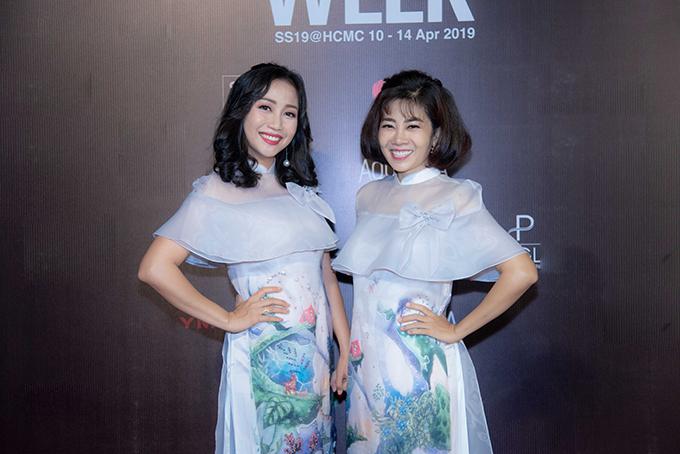 Mai Phương, Ốc Thanh Vân mặc áo dài đôi đi sự kiện