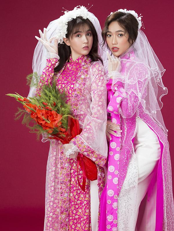 Ngọc Trinh và Diệu Nhi sẽ hóa cô dâu trên sàn diễn Vietnam International Fashion Week 2019.