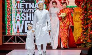 'Bố đơn thân' Bảo Bảo đưa con trai lên sàn catwalk
