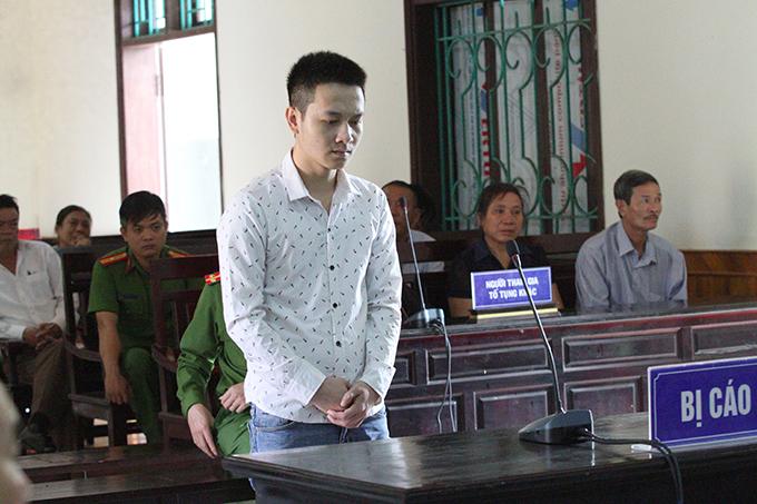 Bị cáo Nam tại tòa. Ảnh: Hùng Lê