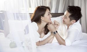 Ảnh cưới 'tình bể bình' của người mẫu Lê Hà