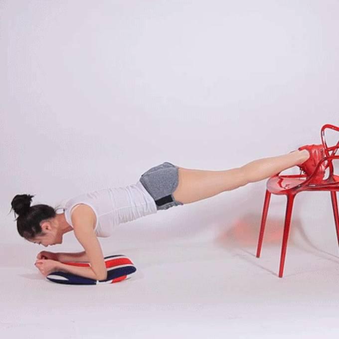 8 động tác với ghế cho đôi chân thon gọn