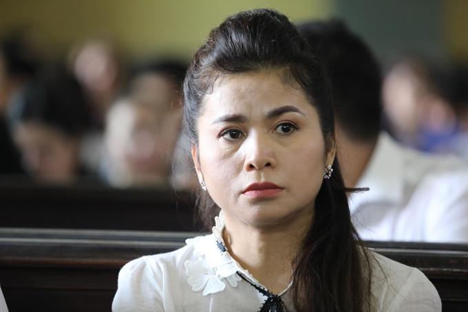 Bà Thảo tại phiên tòa sơ thẩm ngày 27/3. Ảnh: Thành Nguyễn.