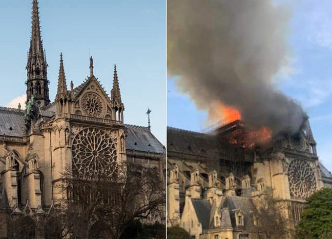 Nhà thờ được xây dựng từ thế kỷ 12 và là một trong những công trình kiến trúc nổi tiếng nhất thủ đô Paris. Tổng thống Pháp Emmanuel Macron đã hủy một sự kiện và nhanh chóng có mặt tại hiện trường. Ông khẳng định sẽ xây dựng lại nhà thờ.