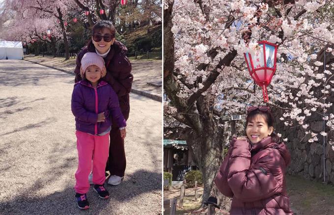 Mặc dù đang ốm nhưng Mai Phương vẫn cố gắng đưa con gái tham dự chuyến du lịch Nhật Bản để cô bé thỏa ước mơ ngắm chú mèo máy Doraemon. Trước khi đi, nữ diễn viên đã tham khảo ý kiến bác sĩ xem có đủ điều kiện sức khỏe hay không. Cô chia sẻ: Chuyến đi này, mẹ Phương muốn tặng cho em Lavie kỉ niệm của 2 mẹ con. Tất may mắn là có gia đình Happy - Ái Châu - Huỳnh Đông đồng hành.Mẹ Phương đi chuyến này cũng có hơi quá sức vì thời tiết và di chuyển nhưng các anh chị trong đoàn cũng giúp đỡ rất nhiều cho 2 mẹ con có chuyến đi đáng nhớ, nhất là với Lavie.