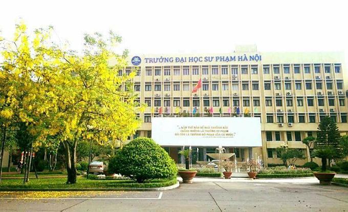 Tòa nhà chính Đại học Sư phạm Hà Nội. Ảnh: FB/Đại học Sư phạm Hà Nội.
