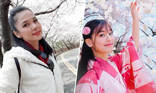 Sao Việt nô nức ngắm hoa anh đào ở Nhật Bản - Hàn Quốc