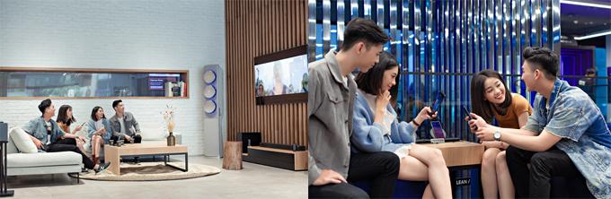 Ngay từ khi ra mắt, không ai nghĩ đến việc sống ảo trong không gian này mà chỉ đơn thuần là đến để trải nghiệm và mở mang tầm mắt về những công nghệ hiện đại bậc nhất thế giới. Song, nghệ thuật sắp đặt thần thánh tại Samsung Showcase đã tạo nên nhiều góc cảnh đẹp khó cưỡng, mà chính giới trẻ - những người đi đầu xu hướng đã được truyền cảm hứng và khai phá ra ý tưởng chụp ảnh dịch chuyển tức thời cực hay ho và độc đáo này.