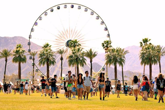 Vòng đu quay ở Coachella, California, Mỹ. Ảnh: Coachella.