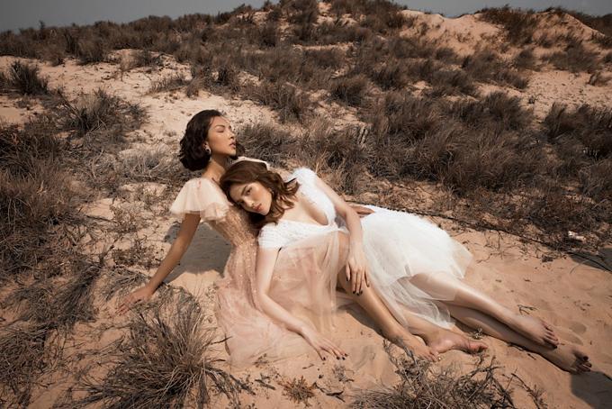 Hoa hậu Kỳ Duyên và người tình tin đồn Minh Triệu tạo dáng tình tứ trong bộ ảnh thời trang mới.