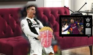 Ảnh chế Messi và C. Ronaldo sau lượt về tứ kết Champions League