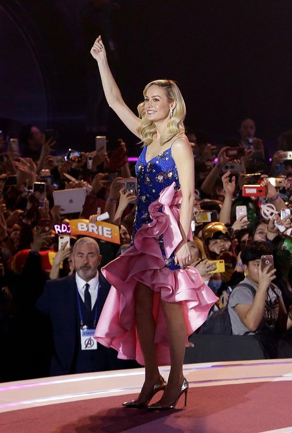 Captain Marvel Brie Larson dự ra mắt bom tấn Avengers: Endgame (Avengers: Hồi kết) tại Hàn Quốc cuối tuần vừa qua.