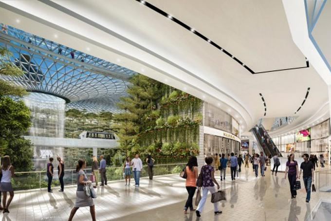 Jewel Changi Airport còn là khu mua sắm lý tưởng của du khách đến với Singapore với 280 cửa hàng.
