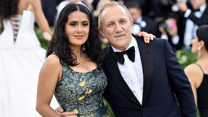 Diễn viên Salma Hayek và chồng, tỷ phú Francois-Henri Pinault. Ảnh:RTE.