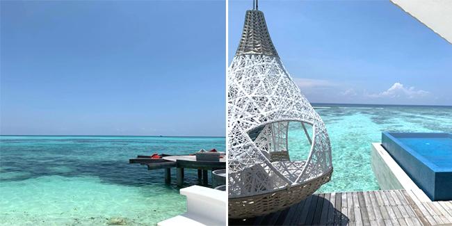 Lâm Tâm Như khoe hình ảnh Maldives trên trang cá nhân.
