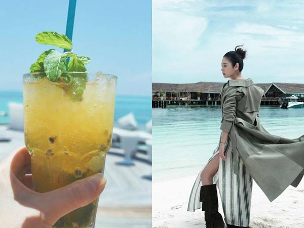 Những hình ảnh được Lâm Tâm Như khoe trong chuyến đi Maldives.