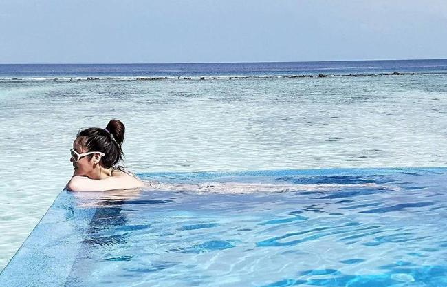 Lâm Tâm Như nghỉ dưỡng ở Maldives - 3